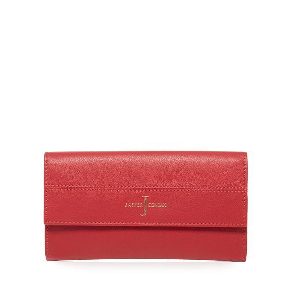 by purse flapover Red Conran large J Jasper leather 4U10qHddBw
