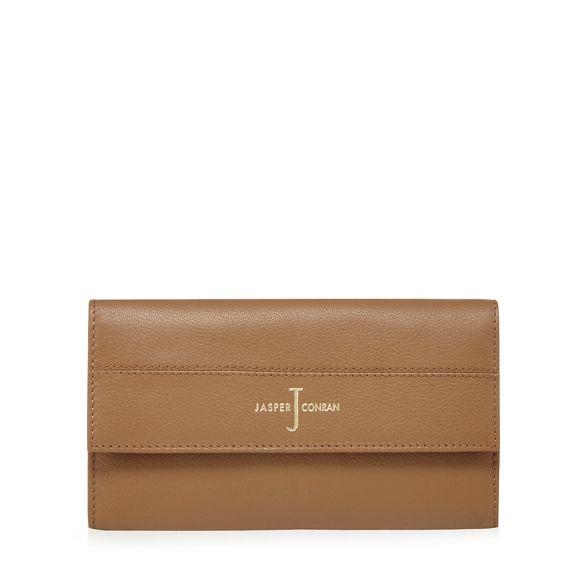 J Jasper flapover by leather large Tan purse Conran rrCPn8a