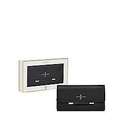 J by Jasper Conran - Black leather bar detail purse in a gift box