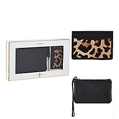 J by Jasper Conran - Natural leopard print wristlet and cardholder set in a gift box