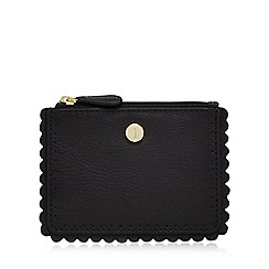 J by Jasper Conran - Black leather scallop coin purse
