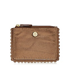 J by Jasper Conran - Metallic leather scallop coin purse