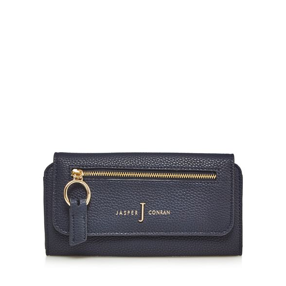 zip purse large by Jasper J Conran Navy front PIvFAwq