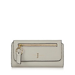 J by Jasper Conran - Grey zip front large purse