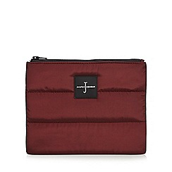 J by Jasper Conran - Dark red quilted pouch wallet