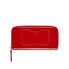 The Collection - Red patent zip around large purse