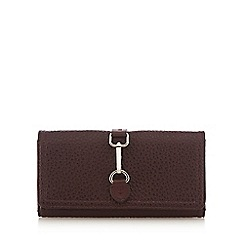 The Collection - Red wine buckle detail fold over purse
