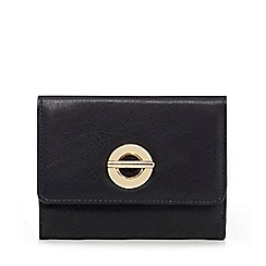 The Collection - Black circular detail square purse