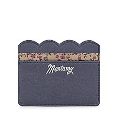 Mantaray - Navy scalloped card holder