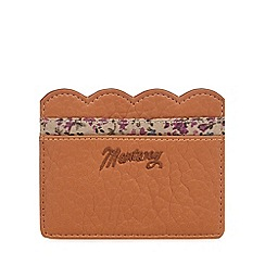 Mantaray - Tan scalloped card holder