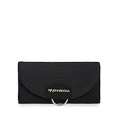 RJR.John Rocha - Black snakeskin-effect flap over purse