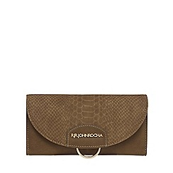 RJR.John Rocha - Khaki snakeskin-effect flap over purse