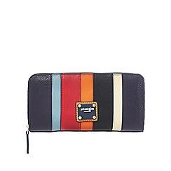 Principles - Multi-coloured stripe print zip-around large purse