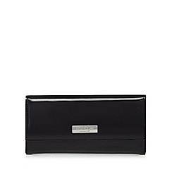 Principles - Black patent fold over large purse