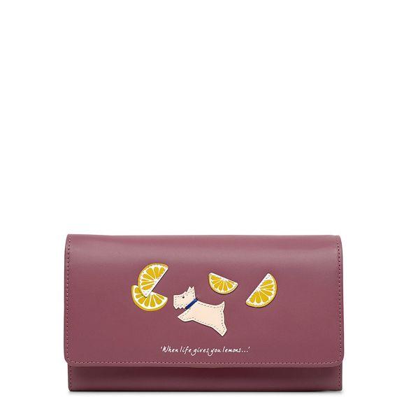 Lemons flapover Radley purse large pink matinee BdwRx1w