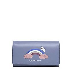 Radley - Rainbow blue large flapover matinee purse