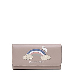 Radley - Rainbow pale pink large folded matinee purse