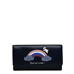Radley - Rainbow navy large folded matinee purse