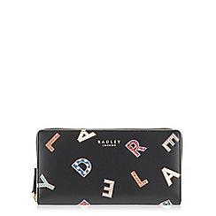 Radley - Letters black large zip around matinee purse
