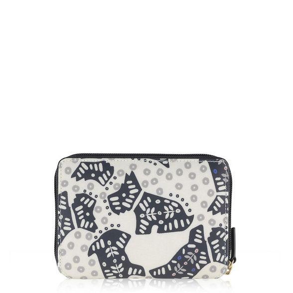 Radley Folk medium ivory zip dog around purse rrvFxfdq