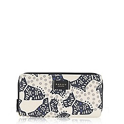 Radley - Folk dog ivory large zip around matinee purse