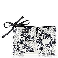 Radley - Ivory folk dog travel set purse