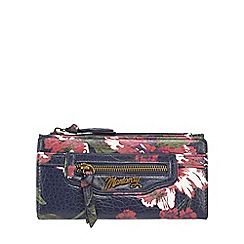 Mantaray - Navy floral print large purse