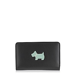 Radley - Heritage dog black medium zip purse