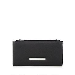 Red Herring - Black double zip wristlet bag