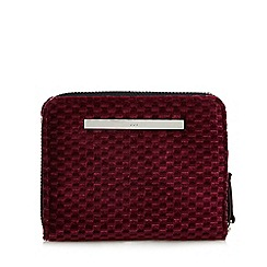 Red Herring - Plum velvet zip around small purse