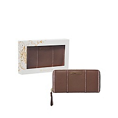 RJR.John Rocha - Light pink leather zip-around wallet