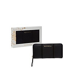 RJR.John Rocha - Black leather zip-around wallet