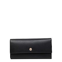 Radley - Large black leather 'Eaton' flapover matinee purse