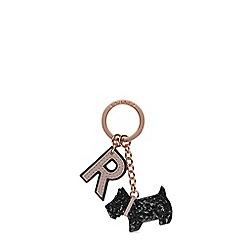 Radley - Black glitter dog keyring