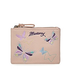 Mantaray - Light pink butterfly embroidery coin purse