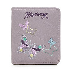 Mantaray - Lilac butterfly embroidered purse