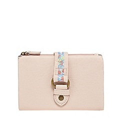 Mantaray - Light pink floral tab purse