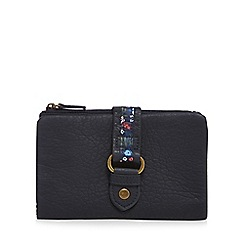 Mantaray - Navy floral tab purse