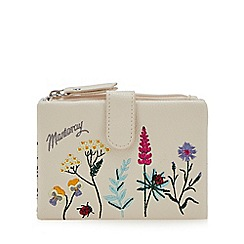 Mantaray - Cream floral embroidered purse