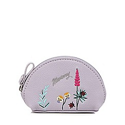 Mantaray - Lilac botanical embroidered coin purse