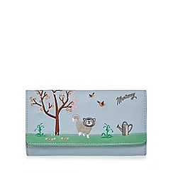 Mantaray - Light blue embroidered large purse