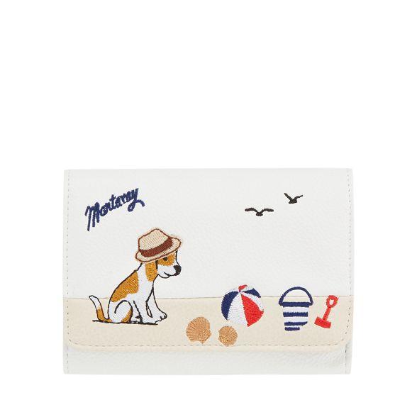 embroidered medium White Mantaray purse dog qSFOZx0P