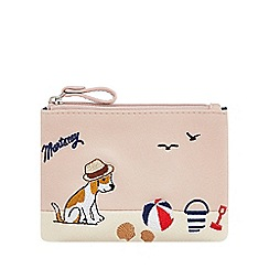 Mantaray - Light pink dog embroidered coin purse