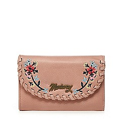 Mantaray - Light pink whipstitch flap over purse