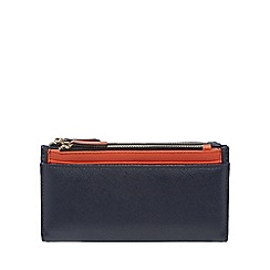 Red Herring - Navy multiple compartment large purse