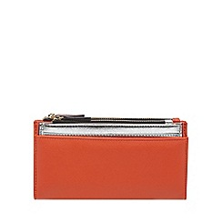 Red Herring - Orange multiple compartment large purse