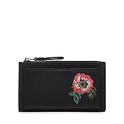 Red Herring - Black embroidered large purse