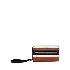 Fiorelli - Tan abbey zip around purse