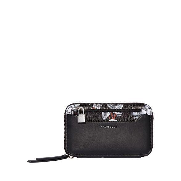 Black zip Fiorelli purse eva around dww4Cx
