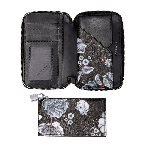 Fiorelli eva purse around zip Black q6wCZqWp